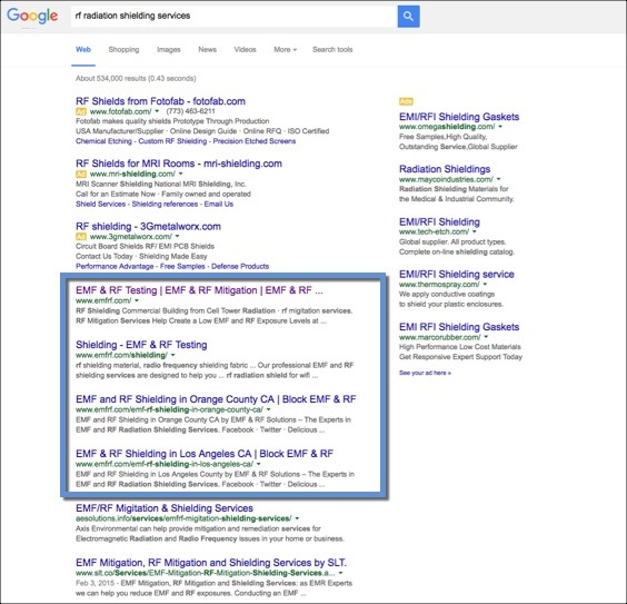 National Search Engine Optimization Results