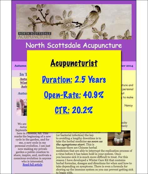 acupuncturist email marketing