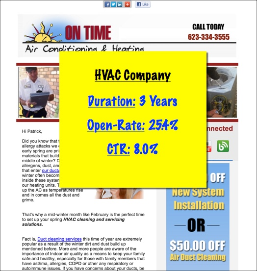 air conditioning company email marketing
