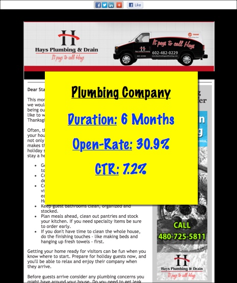 plumbing company email marketing