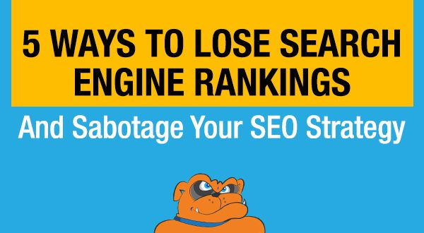 5 Ways To Lose Search Engine Rankings And Sabotage Your SEO Strategy