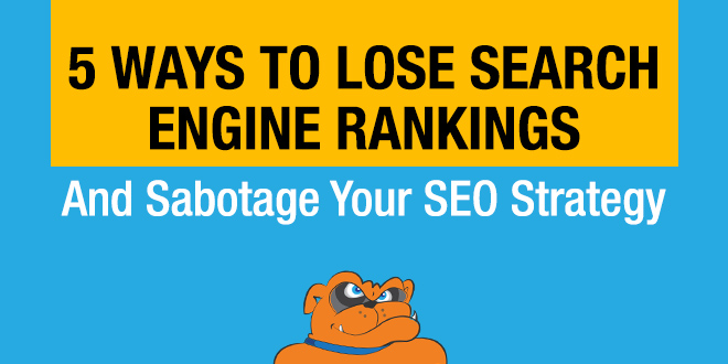 lose search engine rankings