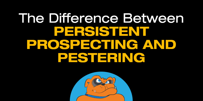 persistent prospecting in business