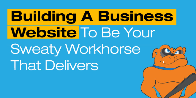 building a business website