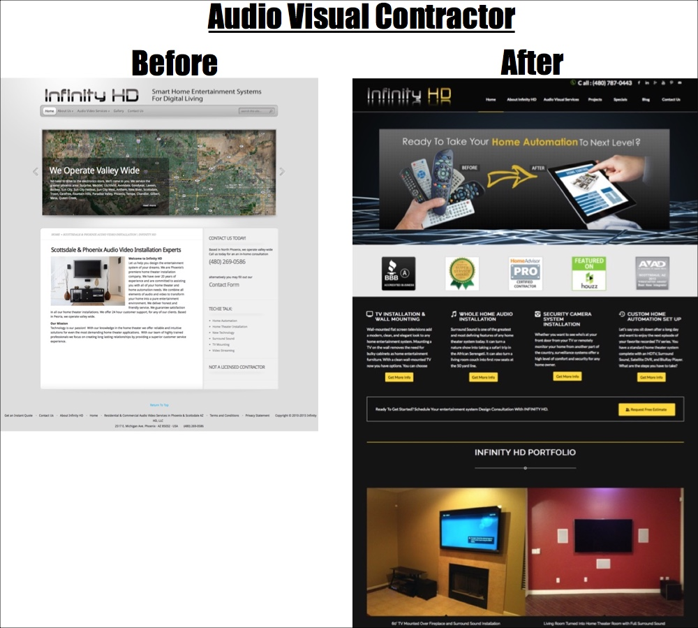 audio visual contractor website