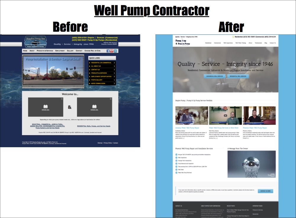 well pump contractor website