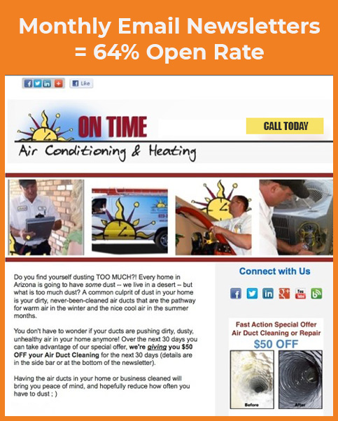 heating and cooling email marketing