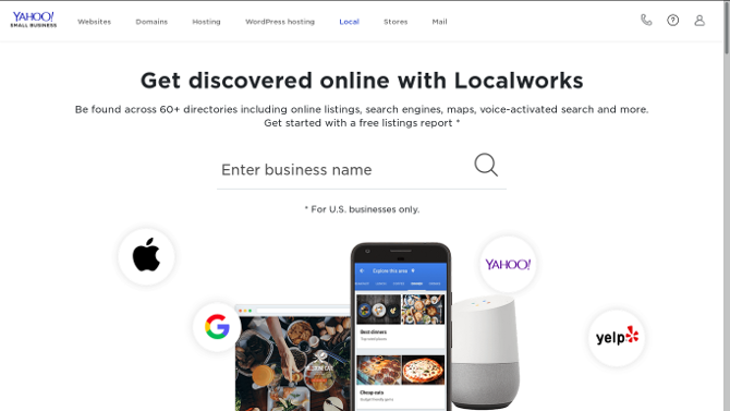 Yahoo! Local Listings