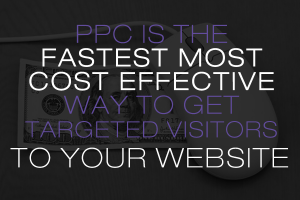 PPC is the fastest most cost effective way to get targeted visitors to your website