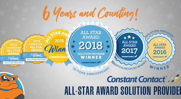 Online Visibility Pros Earns the Constant Contact All-Star Award for 6th Straight Year