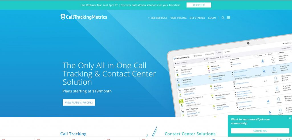 call tracking service provider