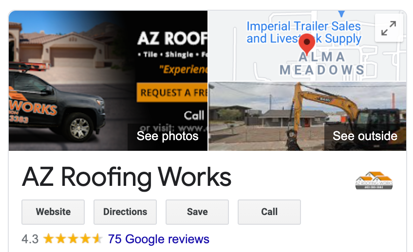 roofing company more google reviews