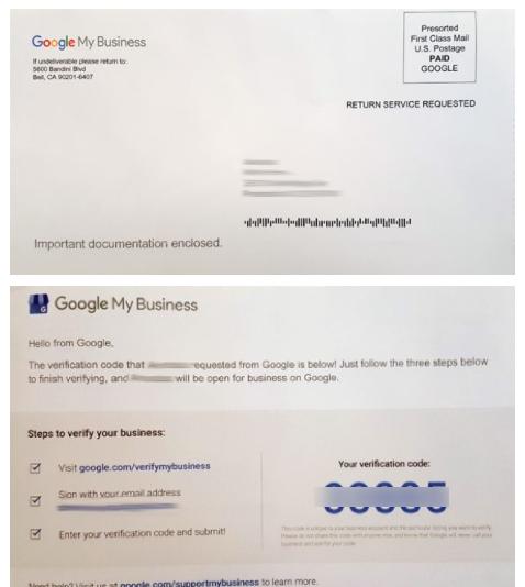 GMB Post Card Verification